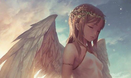 Обои Девушка-ангел, автор Popopo
