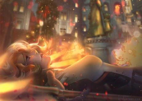 Обои Mercy / Ангел / Ангела Циглер из игры Overwatch / Дозор, by Seiorai