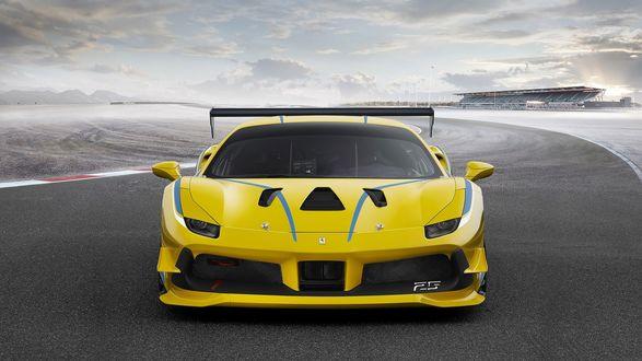Обои Ferrari / Феррари 448 едет по дороге