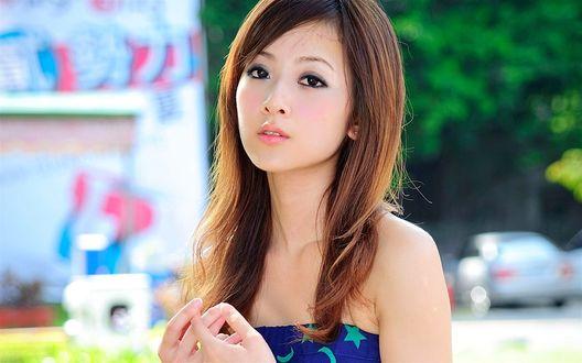 Обои Модель азиатской внешности Mikako Zhang Kaijie / Микако Джан Кайе