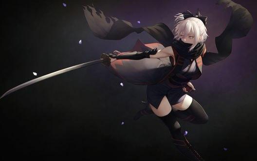 Обои Сэйбер / Saber из игры Судьба / Великий приказ / Fate / Grand Order, автор 十五