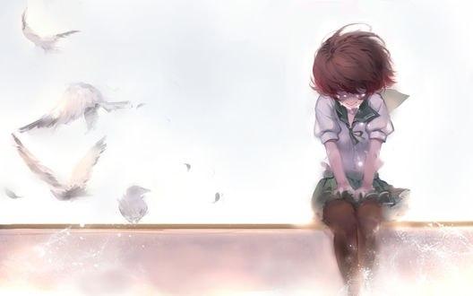 Обои Муцуки / Mutsuki из аниме и игры Флотская коллекция / Kantai Collection, автор Sola7764