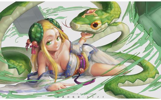 Обои Meimei из игры Puzzle & Dragons, автор CtutO
