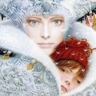 Обои Снежная Королева с Гердой