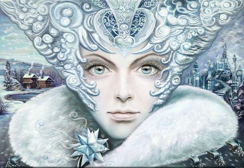 Обои Портрет снежной королевы