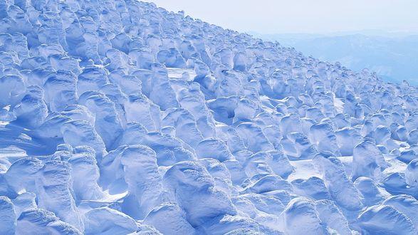 Обои Гора, покрытая снегом