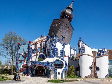 Обои Пивная башня, архитектор Hundertvasser, Abensberg, Бавария, Германия