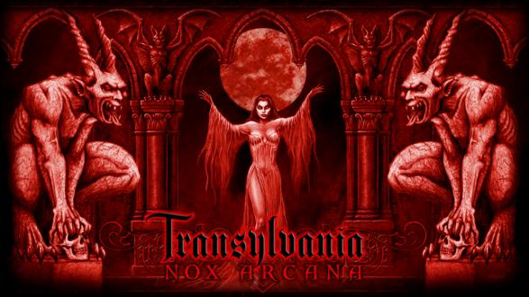 Обои Вампирша пробудилась ночью под Луной и завет гулять своих друзей-гаргулий (Nox arcana)