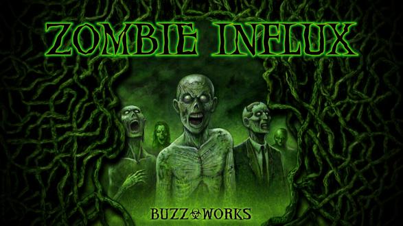 Обои Зеленые зомби идут гулять ночью в лесу, by Joseph Vargo (buzz works, zombie influx)