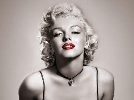 Обои Портрет известной актрисы секс символ Мэрилин Монро / Marilyn Monroe