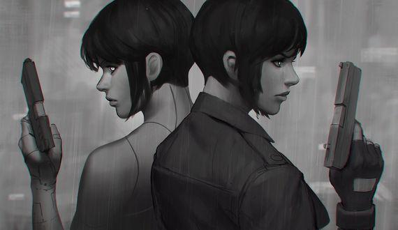 Обои Девушки с пистолетами в руке, by GUWEIZ