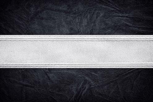 Обои Текстура черная кожа с белой линией посередине
