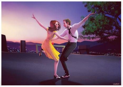 Обои Танцующие парень с девушкой, by lenadrofranci