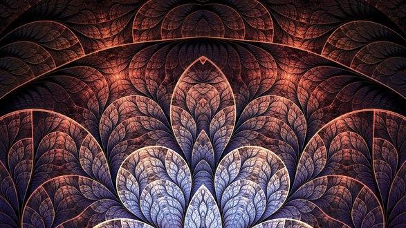Обои Фрактальные узоры из листьев
