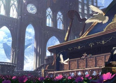 Обои Девушка играет на скрипке, автор Junkbox