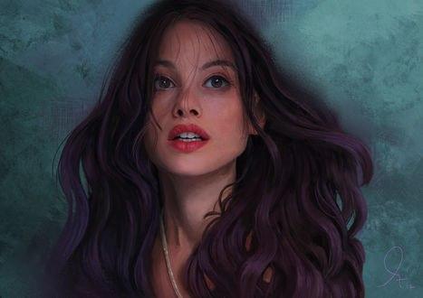 Обои Портрет актрисы Astrid Berges Frisbey / Астрид Берже-Фрисби, by Mandy Jurgens