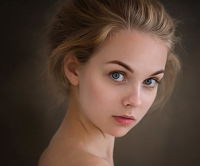 Обои Портрет красивой девушки, by amit salvi