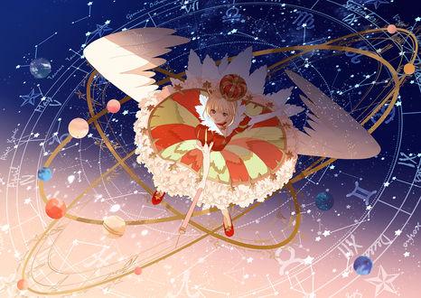 Обои Сакура Киномото / Sakura Kinomoto из аниме Сакура - собирательница карт / Card captor sakura, by Okazaki Oka
