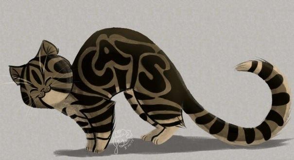 Обои Кошка тигрового раскраса, by Jazzekat