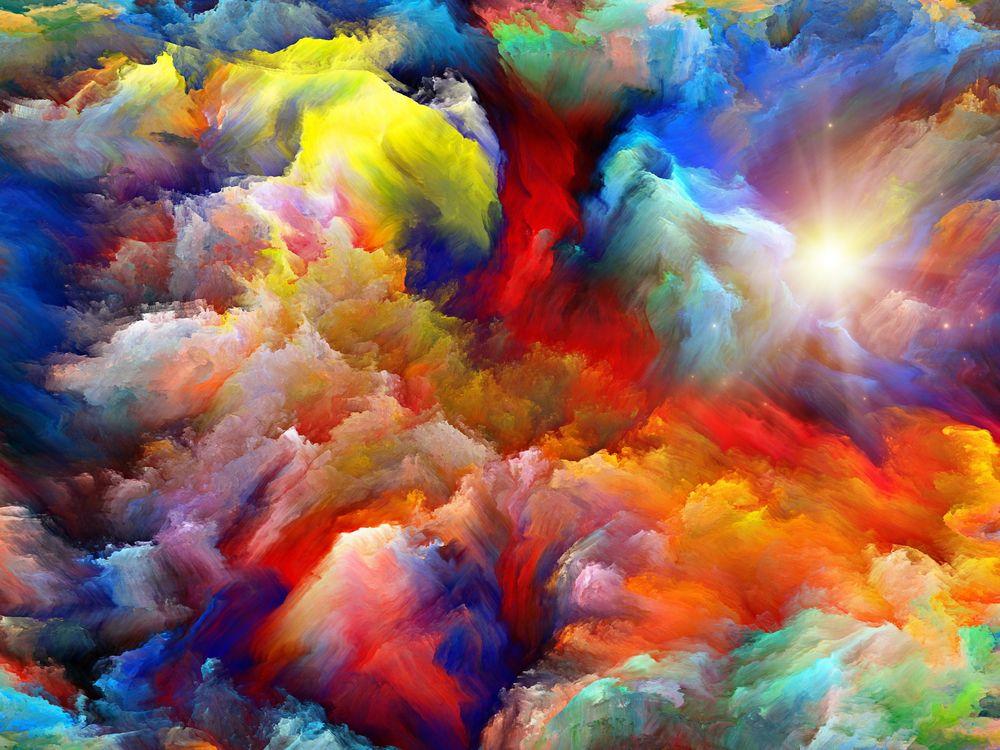 Обои для рабочего стола Множество разноцветных красок