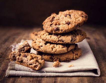 Обои Печенье с шоколадными кусочками