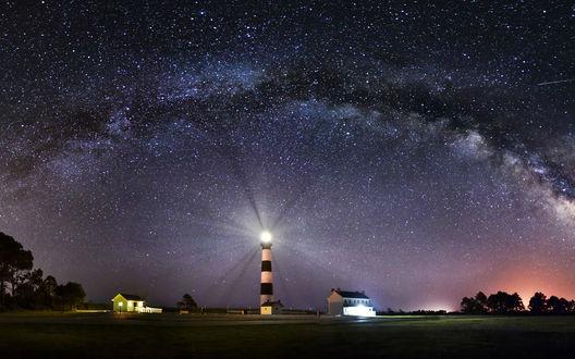 Обои Метеоритный дождь в звездном ночном небе над Иорданией, by Tommy White