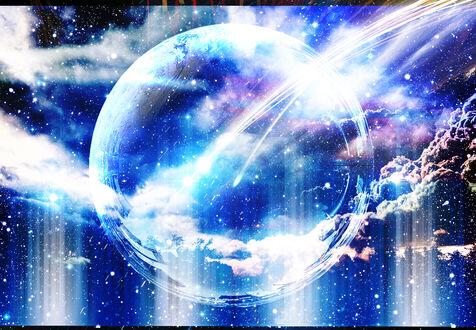 Обои Прозрачная планета, by ゾノ丸
