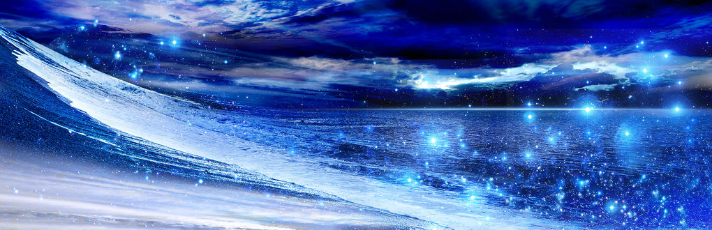 Обои Космическое море, над которым парят звезды, by ゾノ丸