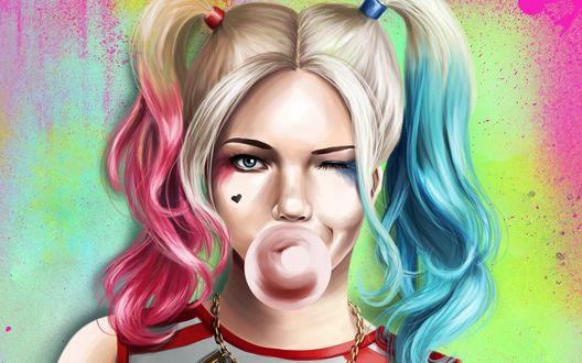Обои Харли Квинн / Harley Quinn из фильма Отряд Самоубийц / Suicide Squad