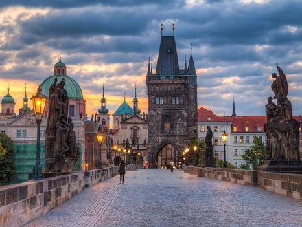 Обои Карлов мост в Праге. Фото Мирослав Петреско