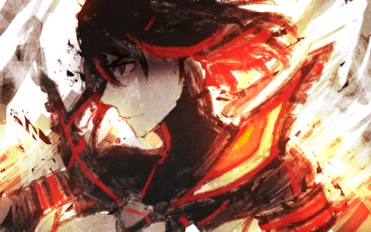 Обои Рюко Матой / Ryuuko Matoi из аниме Убей или умри / Kill la Kill, by slyvanie