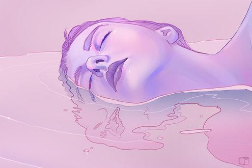 Обои Девушка в воде, by PHAZED