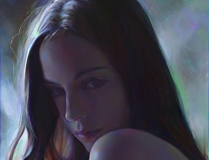 Обои Красивая девушка, by Yanjun Cheng