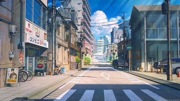 Обои Дневная улица из игры Любовь, Деньги, Рок-н-Ролл / Love Money RocknRoll, автор Arsenixc