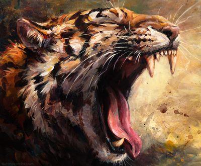 Обои Тигр зевает, by kenket