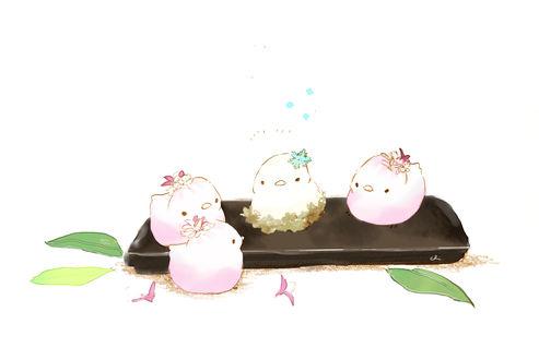 Обои Фруктовые птички, by チャイ