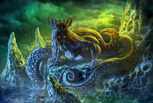 Обои Королева сирен, by Edikt Art