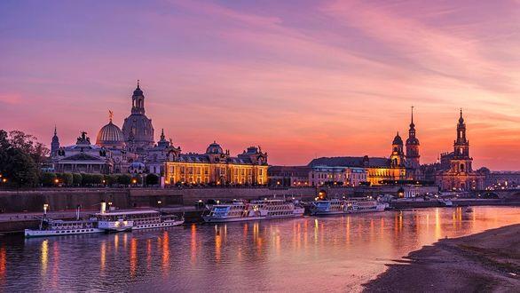 Обои Ночной Дрезден, фотограф Pascal Schirmer