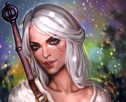 Обои Cirilla / Цирилла из игры The Witcher 3 / Ведьмак 3, by AyyaSAP