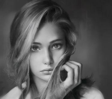 Обои Красивая девушка, by Tim Liu