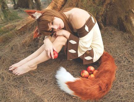 Обои Косплей Horo / Хоро из аниме Spice and Wolf / Волчица и пряности