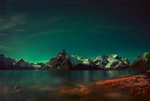 Обои Горы под изумрудным небом, фотограф Siarhei Mikhaliuk