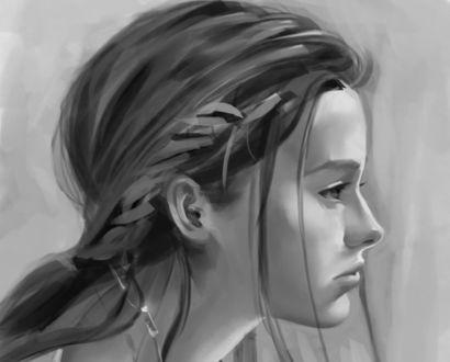 Обои Девушка в профиль, by Ramzy Kamen