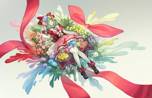 Обои Хина Кагияма / Hina Kagiyama из игры Проект Восток / Touhou Project, автор EyCxS/絵仕事募集中