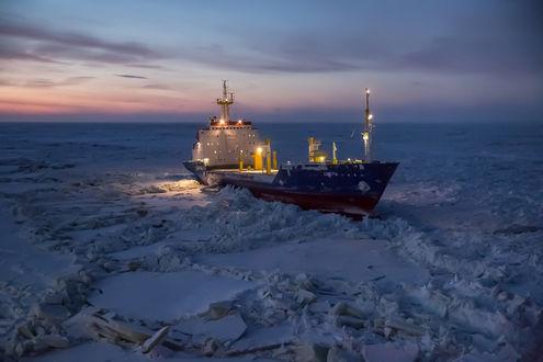 Обои Утро в Арктике, by Lobusov Dmitriy