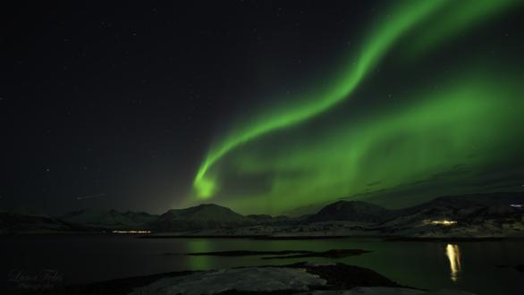 Обои На небе северное сияние, by LunaFeles