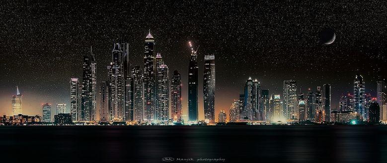 Обои Ночной Dubai / Дубай, Manjik photography
