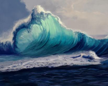 Обои Огромная волна, by XGingerWR