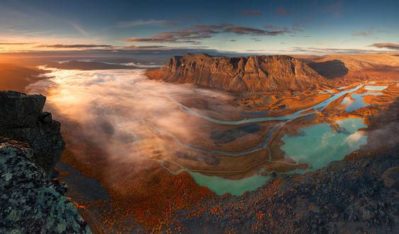 Обои Rapadalen-долина Рапа и река Рапа, Sweden / Швеция. Фотограф Karol Nienartowicz