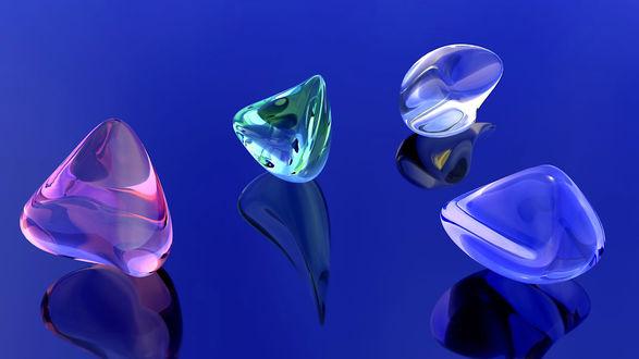 Обои Цветные стеклянные камешки
